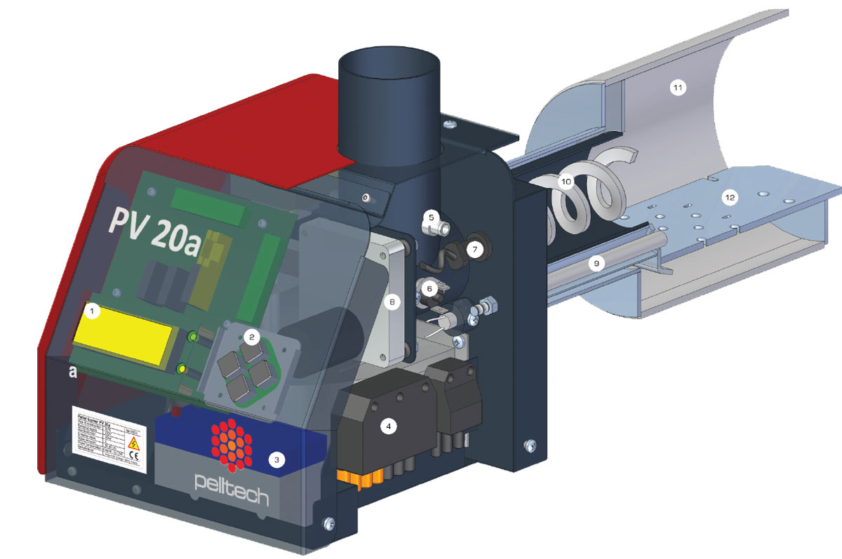 Pelletbrenner PV 20 Querschnitt